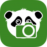 Shoots & Leaves Icon: A panda with a camera